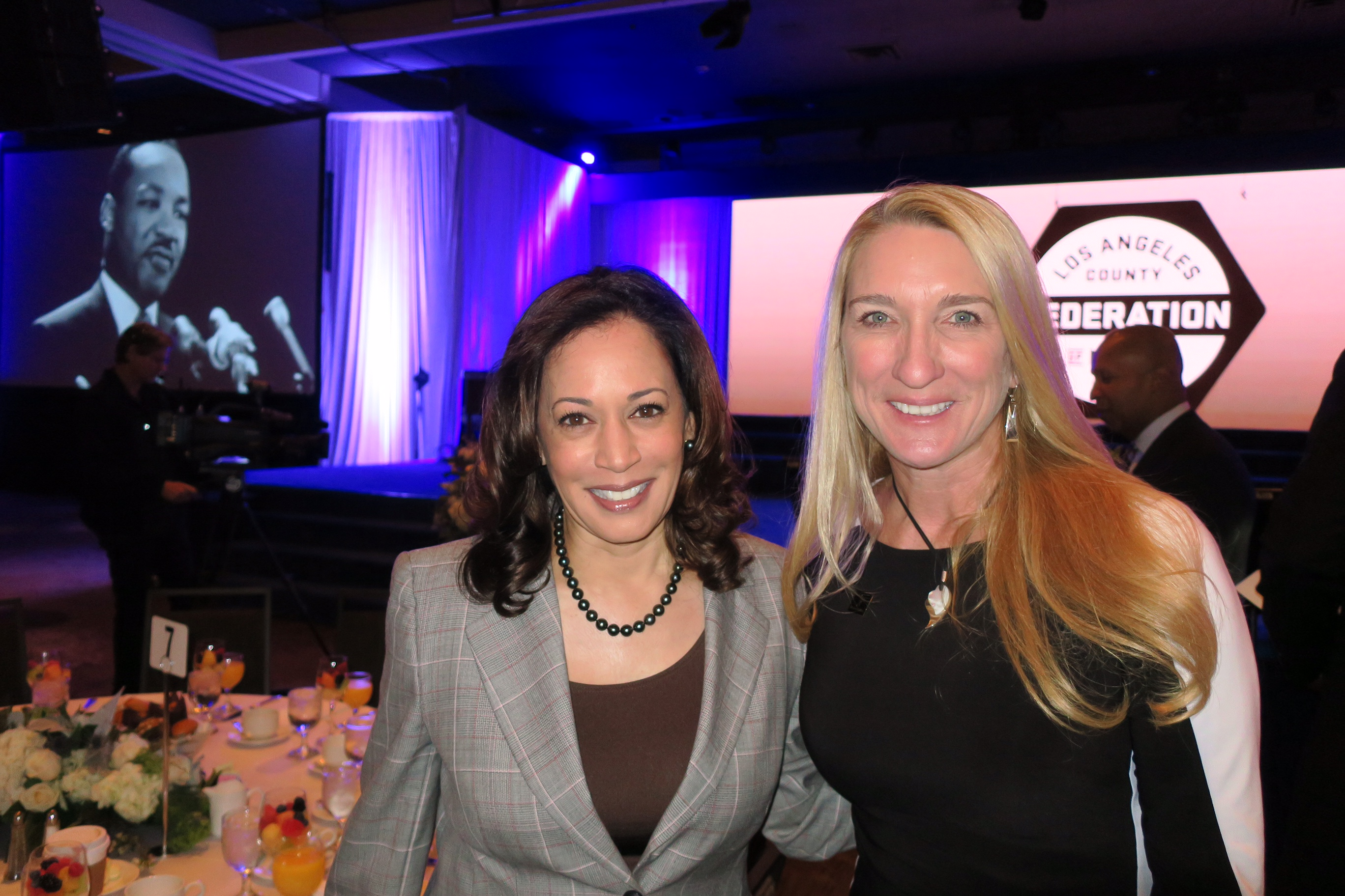 Sen. Kamala Harris with SAG-AFTRA Secretary-Treasurer and Los Angeles Local President Jane Austin