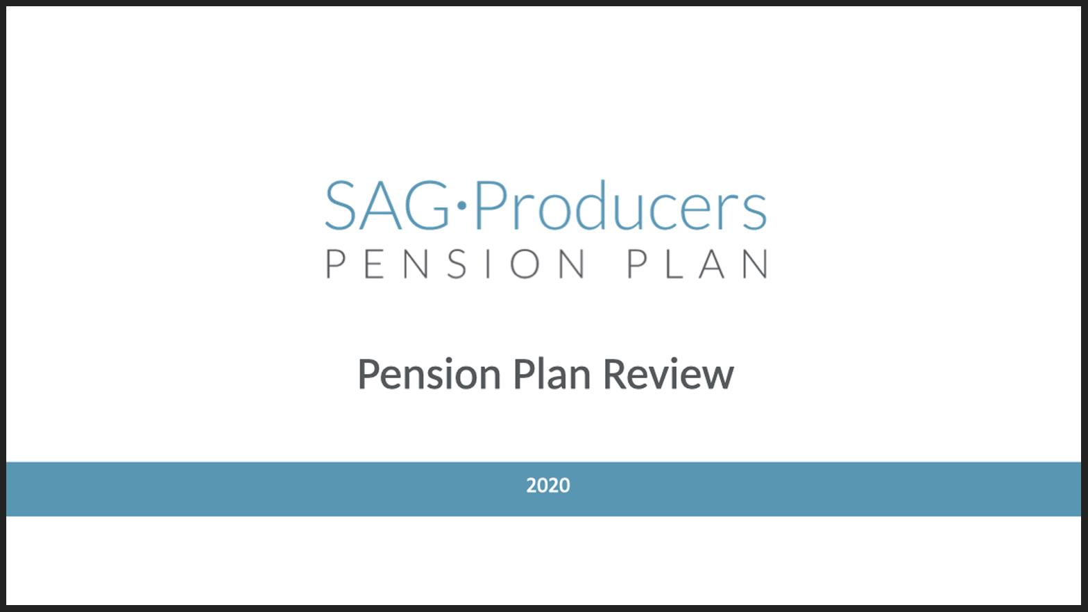 Video del plan de pensiones para productores de SAG