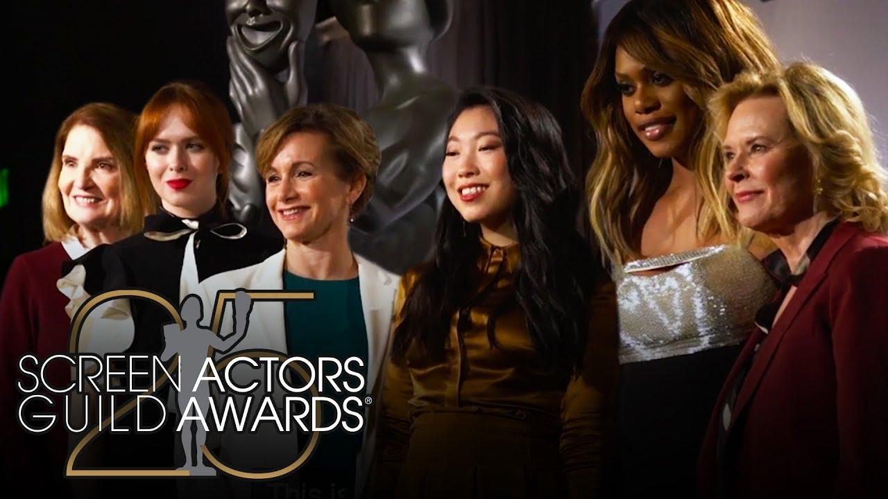 Awkwafina & Laverne Cox explican la importancia de las nominaciones a los 25th Annual SAG Awards®.