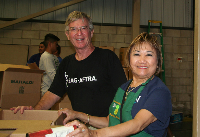 Steve Lowery at the foodbank