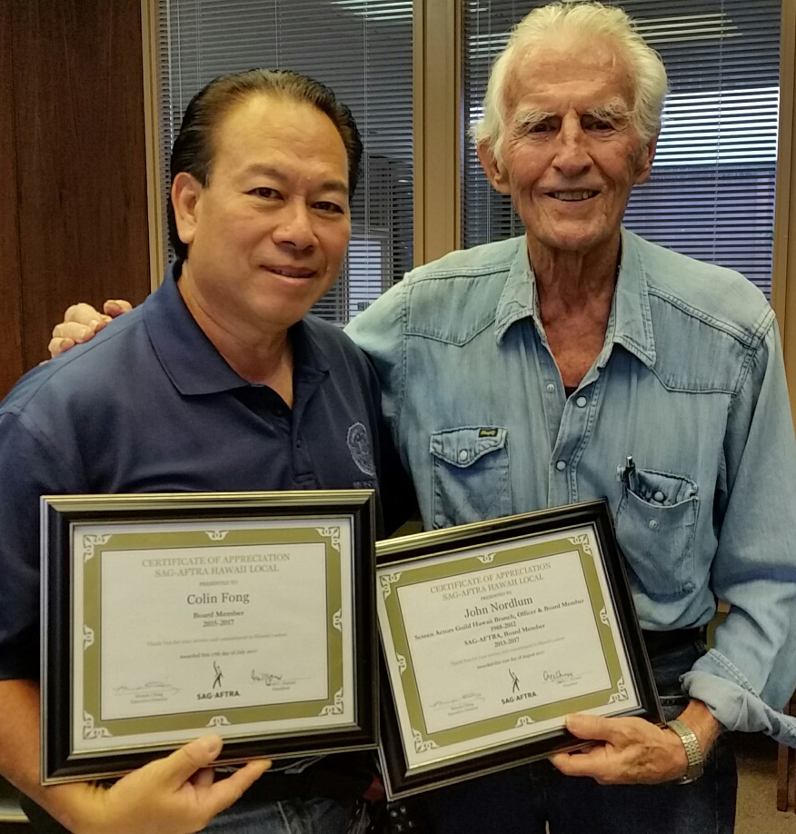 Colin Fong and John Nordlum recognized for their service on the board