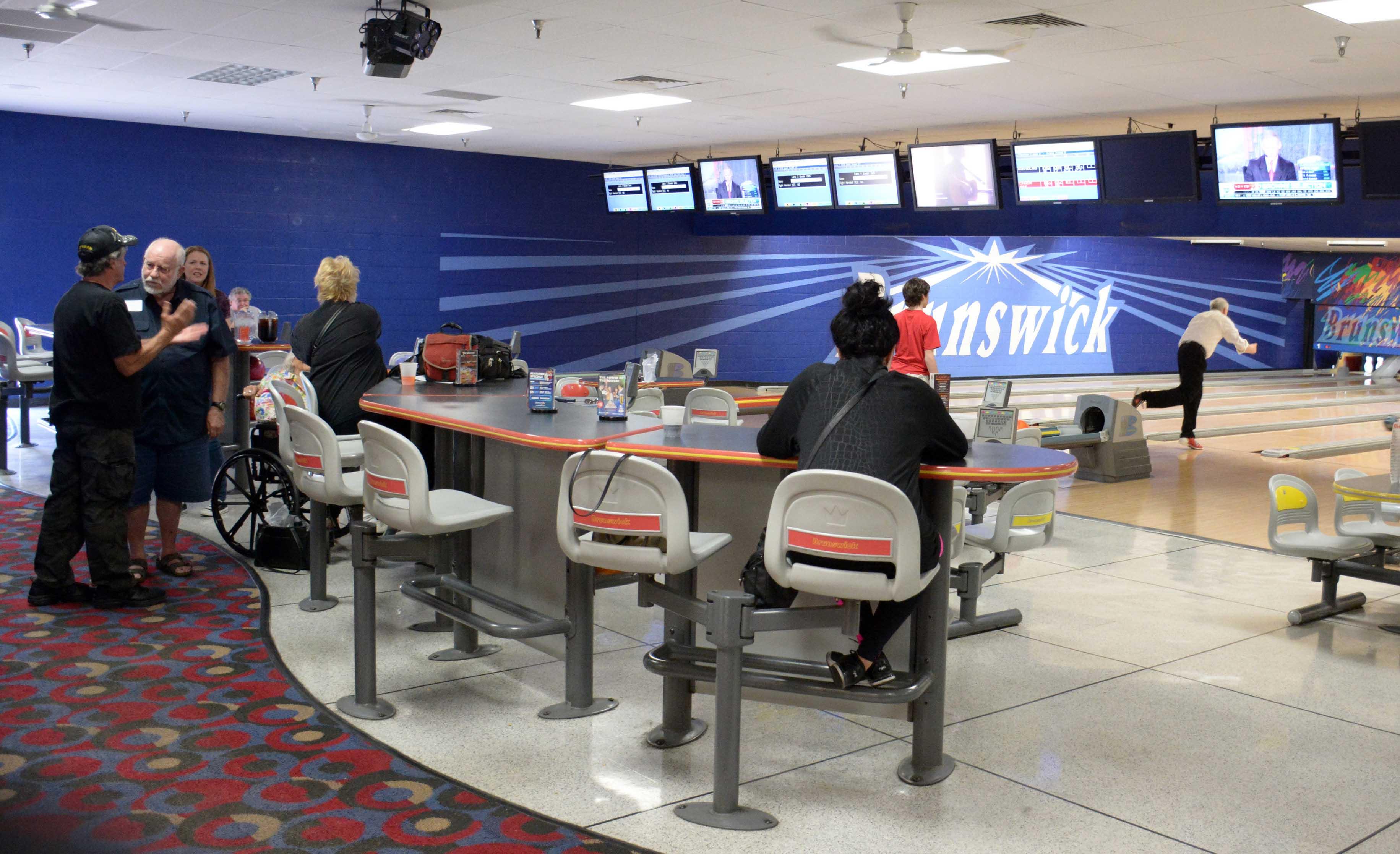 Members bowling