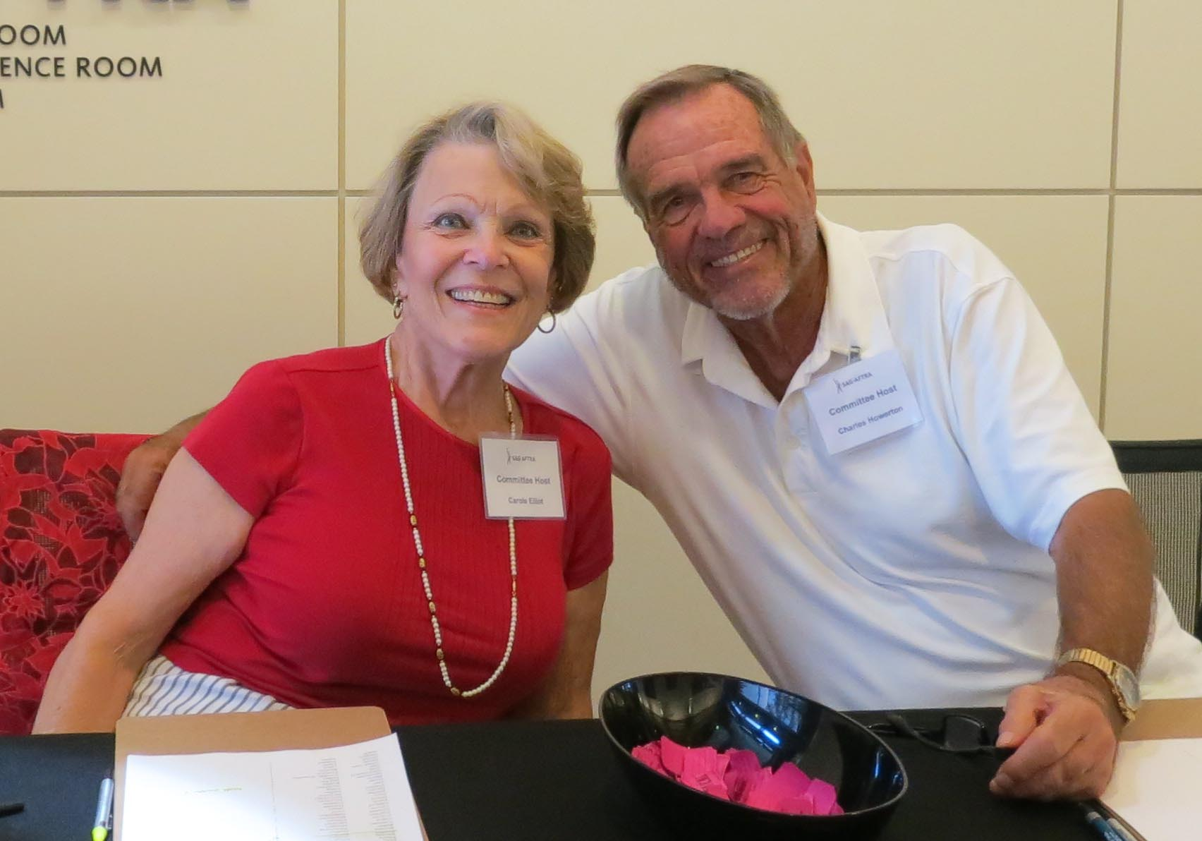 Los Angeles Local Seniors Committee member and Los Angeles Board member Carole Elliot, left, with Los Angeles Local Seniors Committee member Charles Howerton