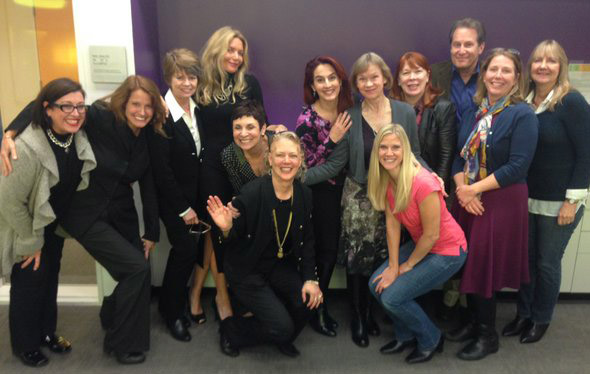 Talent agent Sue Sherman and members