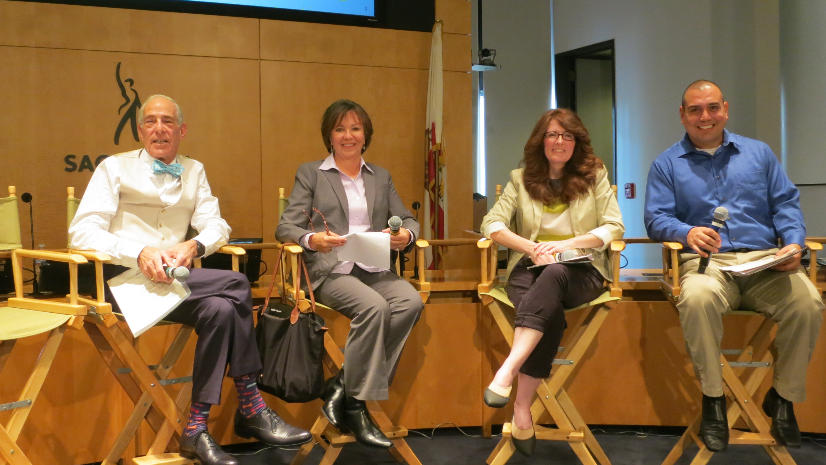 From left, Background Actors Education & Outreach committee members Rick Markman, Linda Harcharic, Samantha Hartson and Vincent Amaya