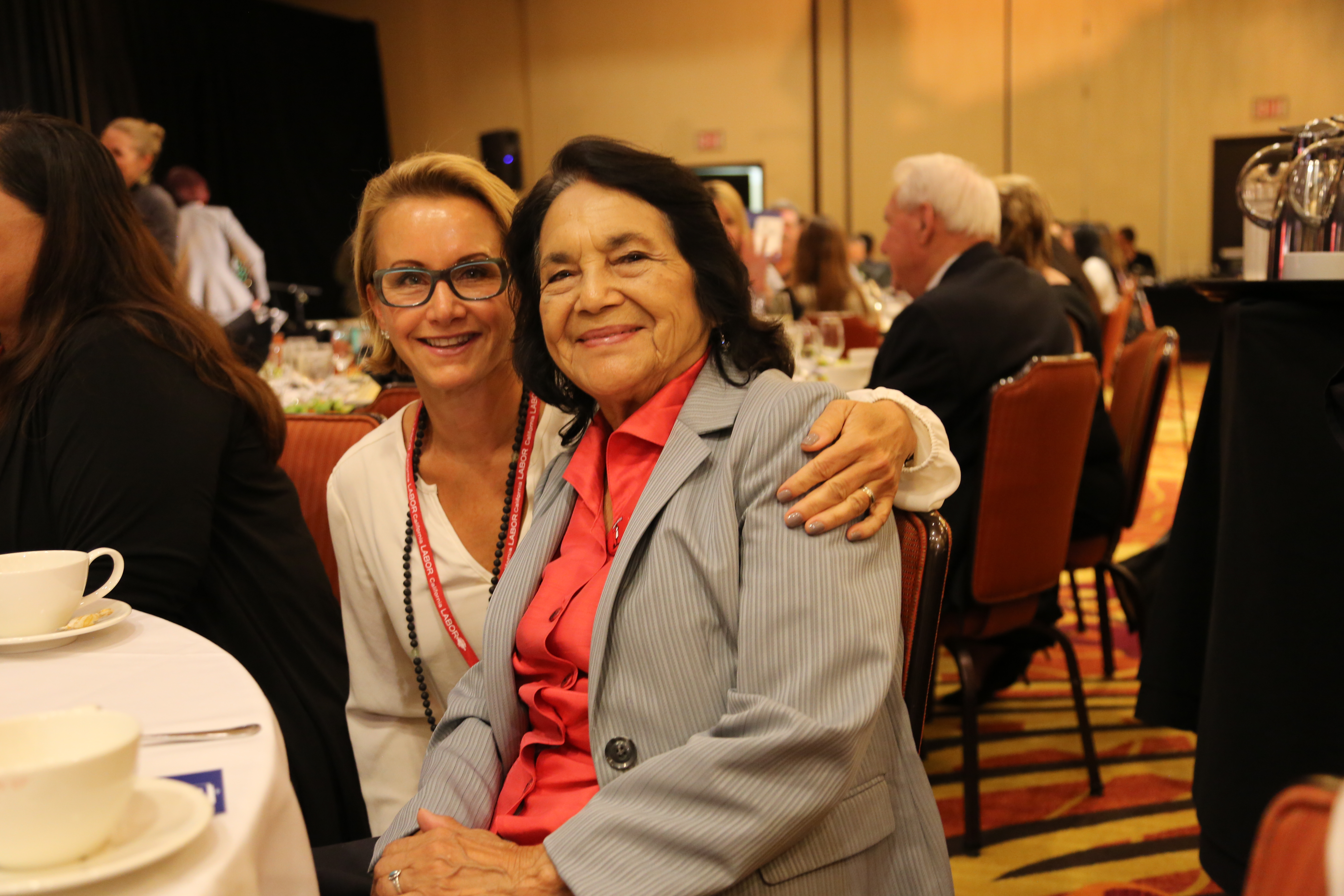 President Gabrielle Carteris with Dolores Huerta, co-founder of the United Farm Workers.