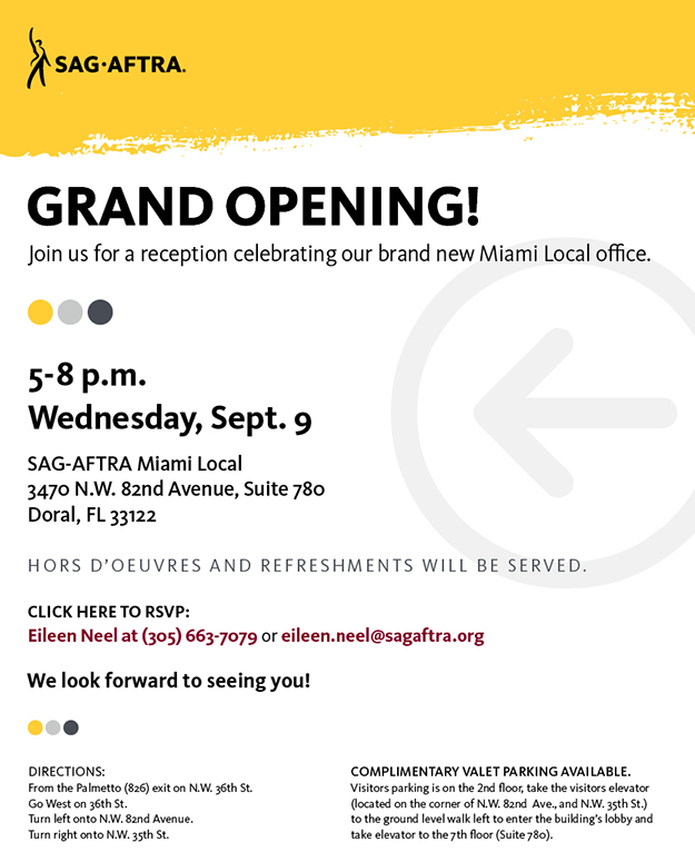 Miami Local Office Grand Opening Sag Aftra