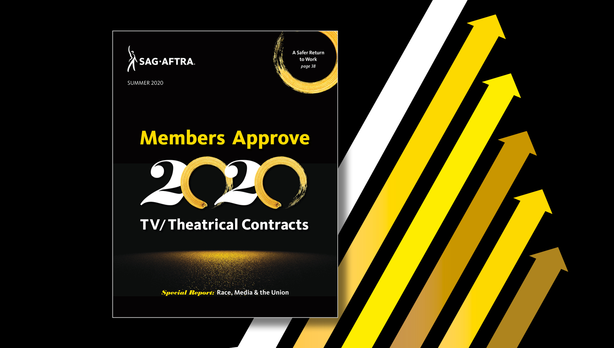 2020 Summer Magazine Cover with 2020 TV/Theatrical theme