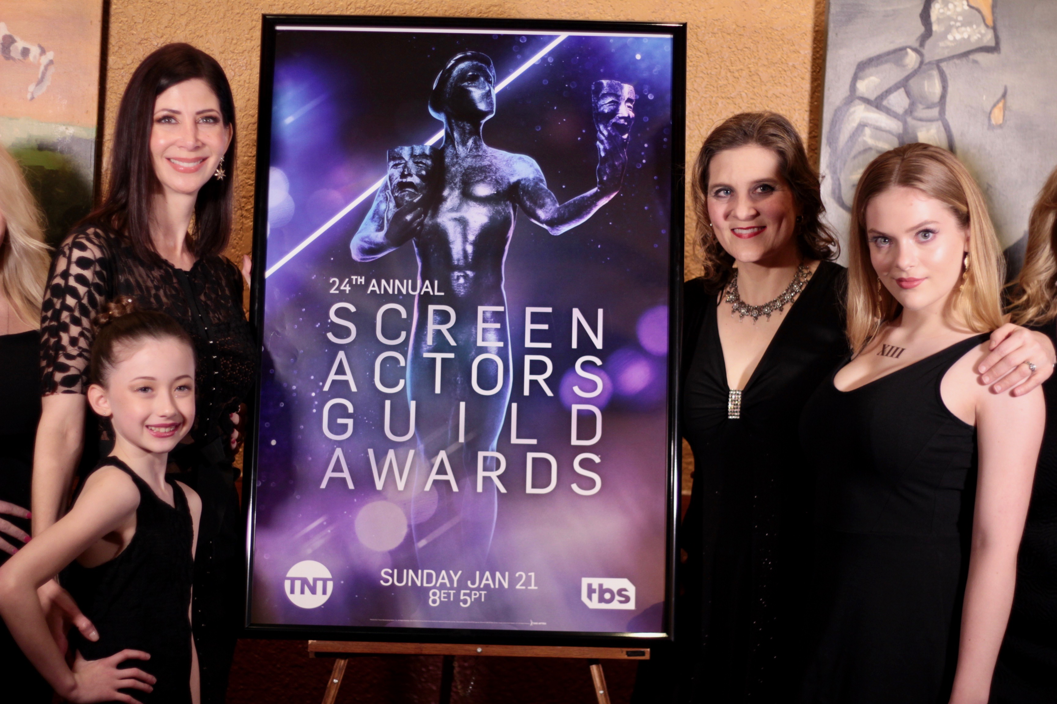 Members at the SAG Awards viewing party near Houston