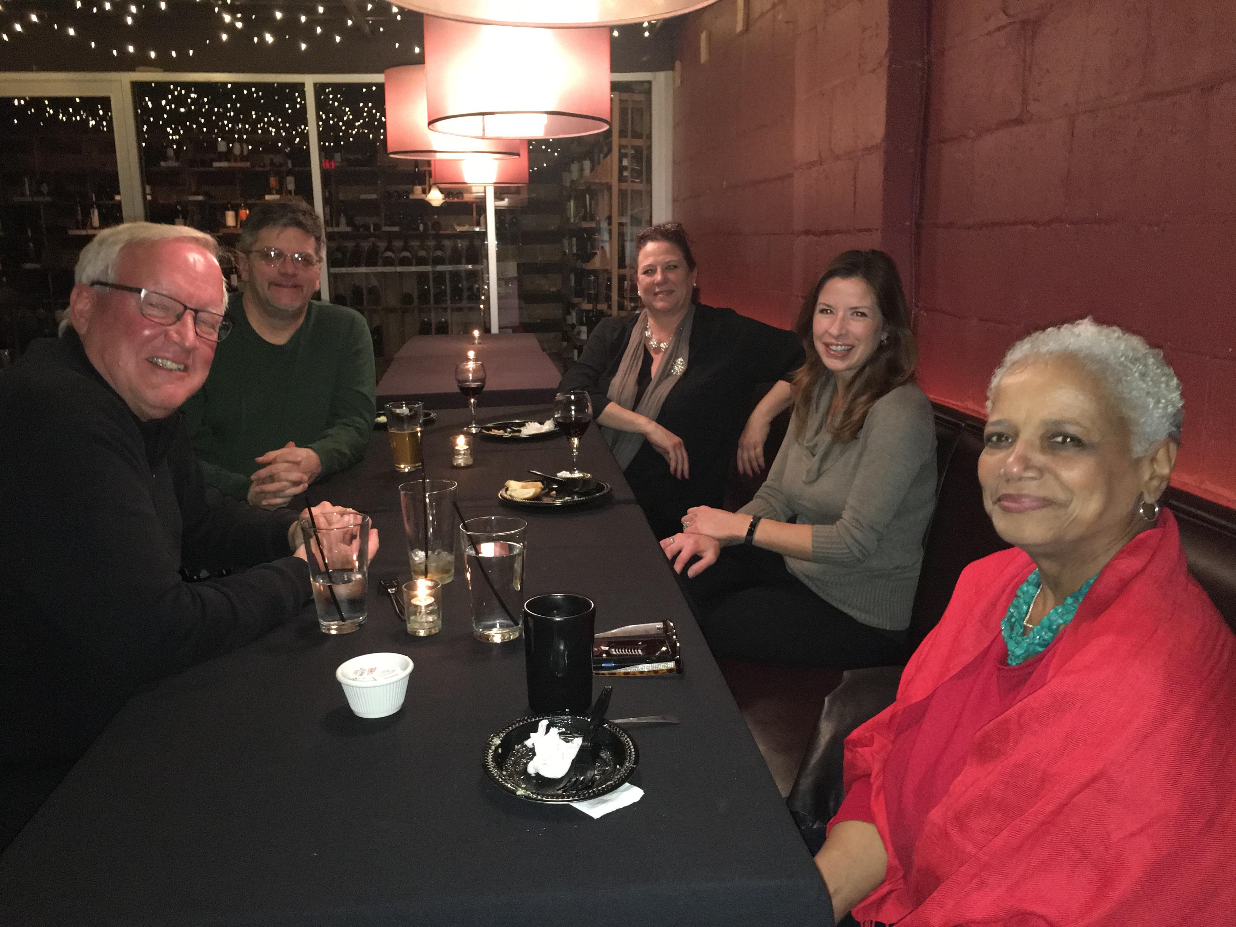 Members at table