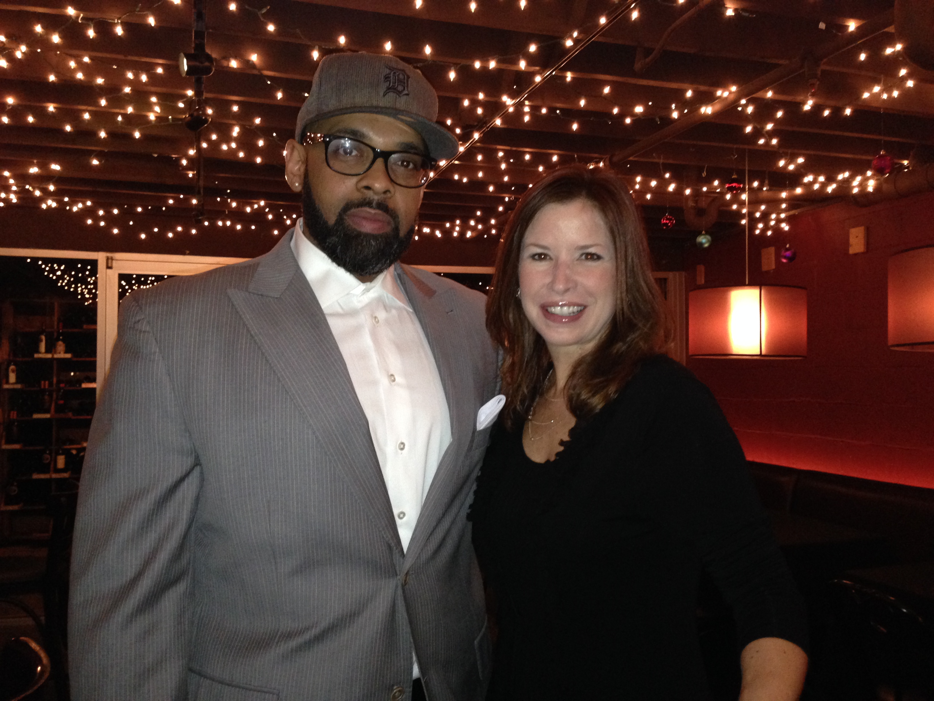 Members Shane Carson and Amy Lange at Broadcast Holiday Party