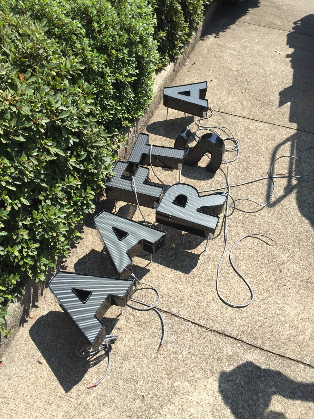 Installing letters