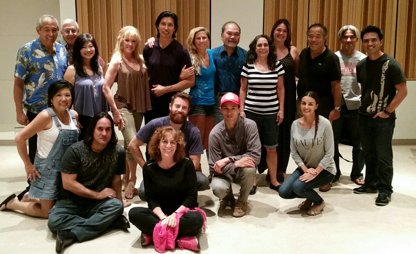 Members at the conservatory workshop with instructor Keo Woolford.