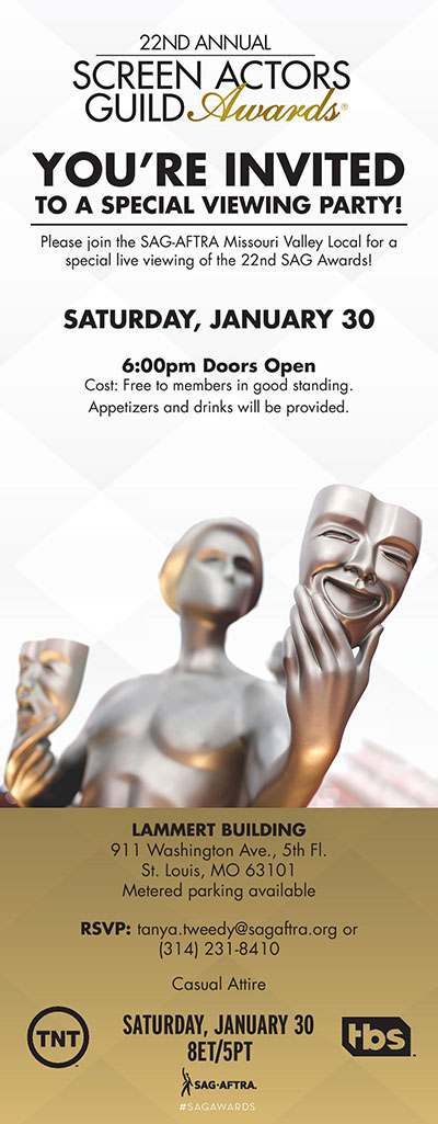 SAG Awards St. Louis Viewing Party 2016  Invite