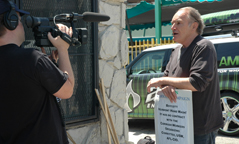 SAG Members Join L.A. Carwash Boycott - Member being Interviewed