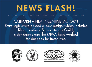 California Film Incentive Victory