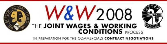 W&W 2008 Joint Wages & Working Conditions