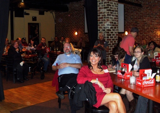 The crowd gathered at the Dilworth Neighborhood Grille to learn about SAG-AFTRA