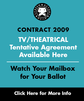 Contract 2009: TV/Theatrical Tentative Agreement Available Here