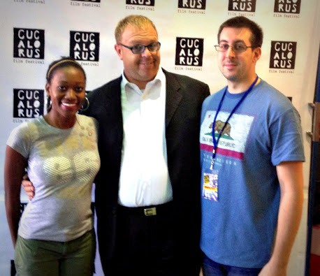 (From Left to Right): Lois Seffu, SAG-AFTRA member Liam Mason, and Thomas Young