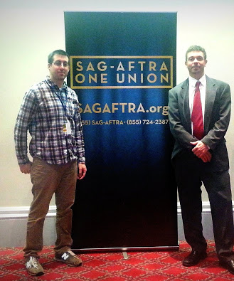 (From Left to Right): Thomas Young, and SAG-AFTRA member Nick Basta