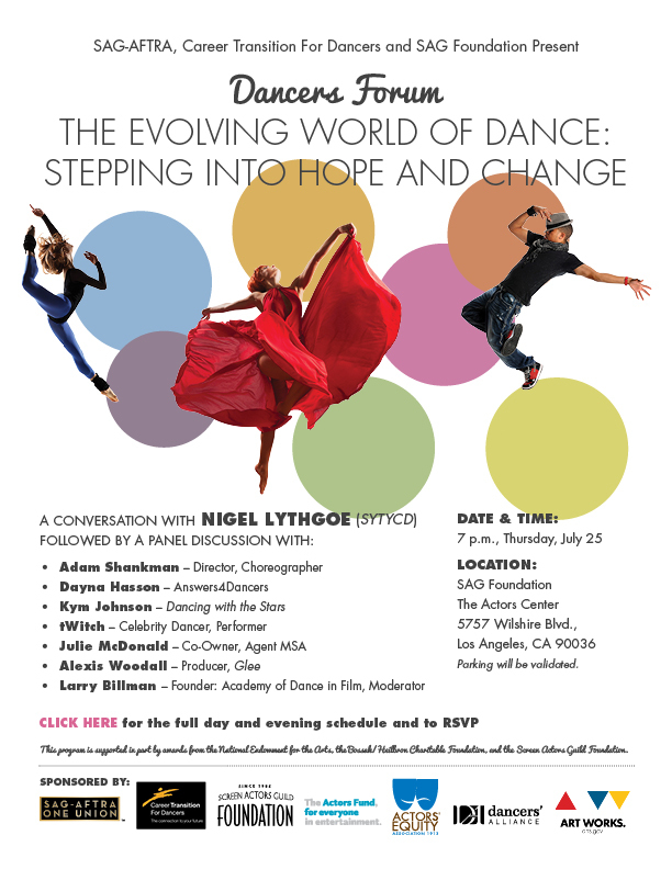 SAG-AFTRA, Career Transition For Dancers and SAG Foundation Present - Dancers Forum - The Evolving World of Dance: Stepping Into Hope and Change