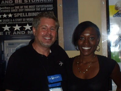 (From left): Executive Director of the DC Shorts Film Festival, Jon Gann with SAG-AFTRA staff member Lois Seffu