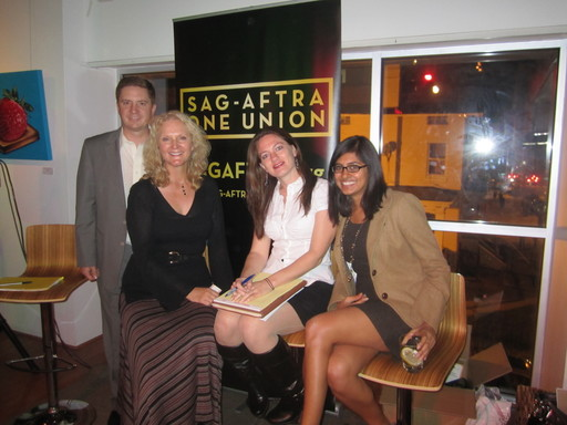 Tom Moore, the chair of the RASCals, and SAG-AFTRA staff  Sara Bennett, Anee Raulerson, and Purvi Patel