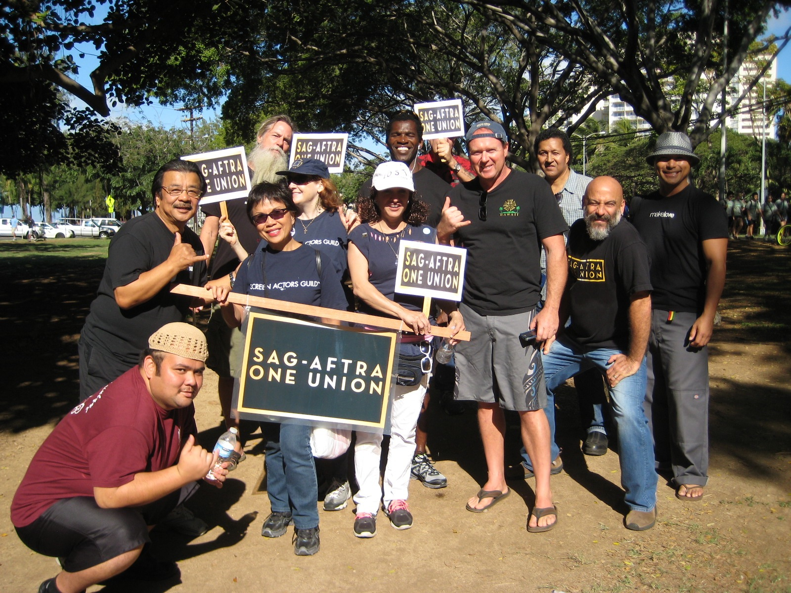 SAG-AFTRA members group shot