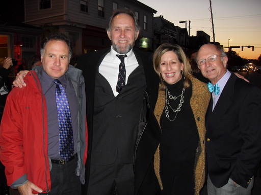 (From Left to Right): SAG-AFTRA member and cast member Kahil Dotay, SAG-AFTRA member and Daniel Day Lewis stand-in David Foster, SAG-AFTRA staff member Jane Love, and SAG-AFTRA member and cast member Michael Kennedy.