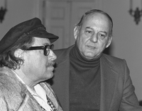 Stocker with Tennessee Williams, 1977.  (photo by Ben Rauch)
