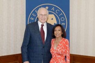Award recipients George Coe and Sumi Haru