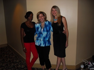 (From left): SAG-AFTRA Staff Lois Seffu and Jane Love, with local casting director Kimberly Skymre