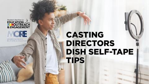 'Consejos para autograbar platos de directores de casting'