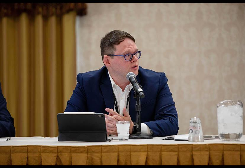"""SAG-AFTRA Chief Operating Officer & General Counsel Duncan Crabtree-Ireland speaks on the second panel, """"Starring Digital Data and Artificial Intelligence – When Real and True Isn't."""""""
