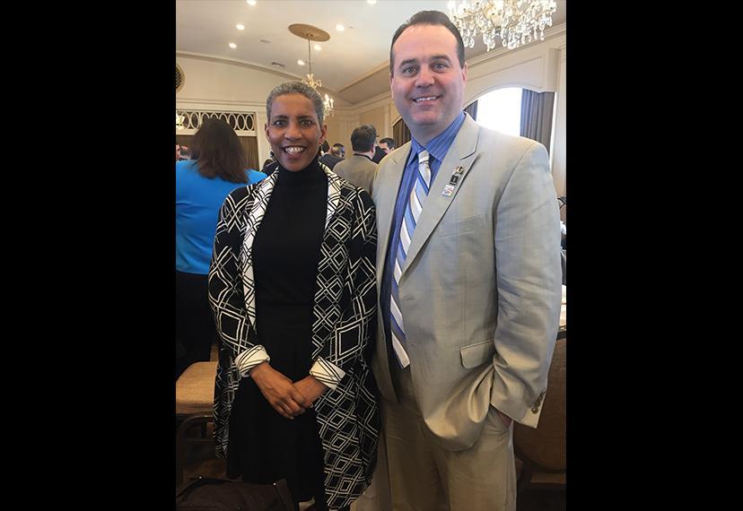 New England Local Board members Andrea Lyman and Chuck Slavin at the GBLC Annual Legislative Breakfast on April 1.