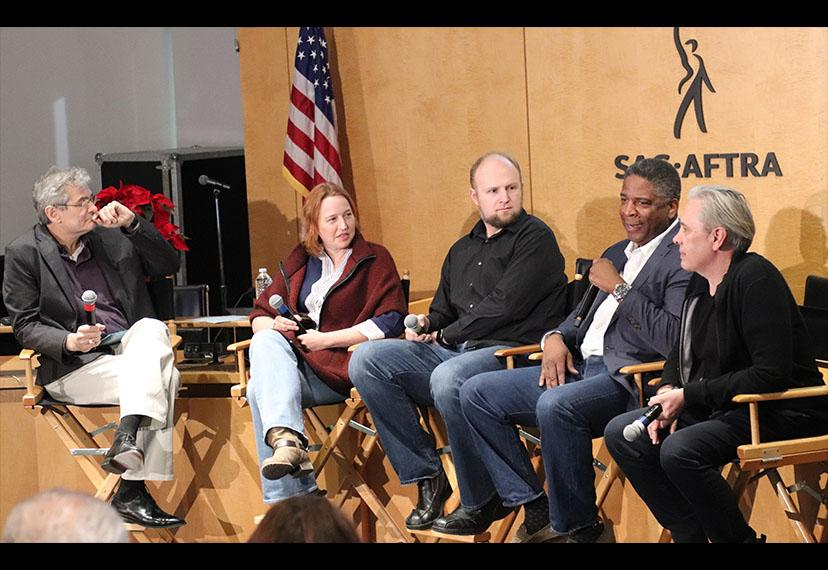 Casting Director Terence Harris, fourth from left, shares casting tips for performers at the Background Actors Education & Outreach Subcommittee panel 'The Nuts and Bolts of Background Actor Casting,' held at SAG-AFTRA Plaza on Dec. 16.