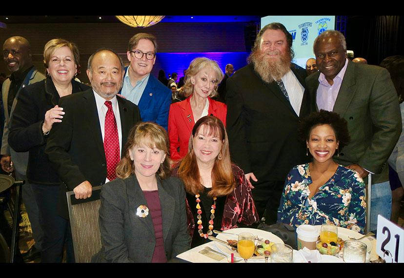 Back row, from left, Executive Director Ilyanne Morden Kichaven; SAG-AFTRA Vice President, Los Angeles Clyde Kusatsu; Los Angeles Board of Public Works President and L.A. Chief Film Liaison Kevin James; SAG-AFTRA Los Angeles Board member and MOVE L.A. Co-