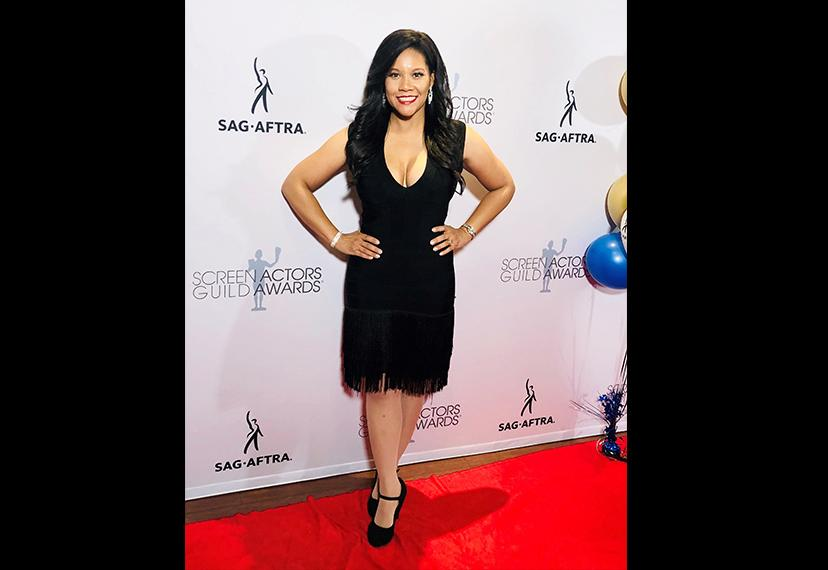Member Leah Laurie Procito works the red carpet solo on awards night. Photo courtesy Leah Laurie Procito