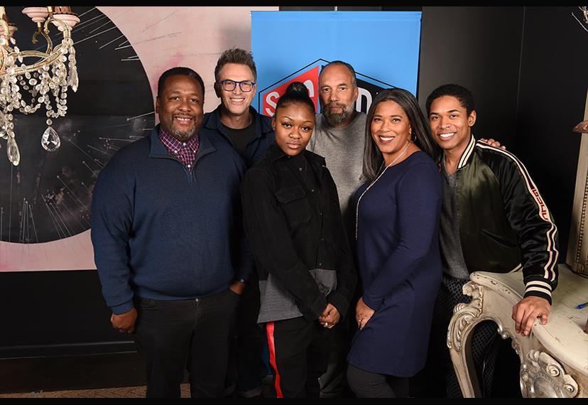 From left, actors Wendell Pierce, Tim Daly, Imani Lewis and Roger Guenveur Smith, SAGindie Executive Director Darrien Michele Gipson and actor Kelvin Harrison, Jr. at the 22nd Annual Sundance Film Festival SAGindie Actors Only Brunch on Jan. 27.