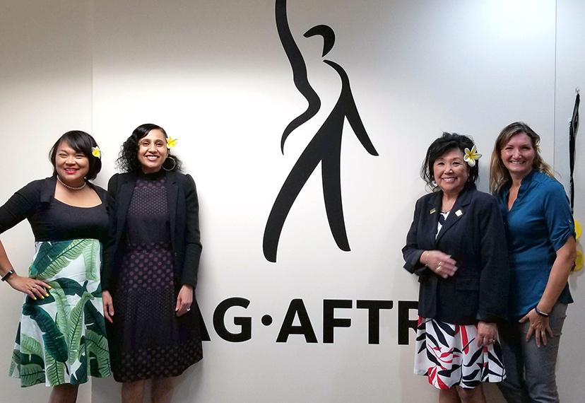 The SAG-AFTRA Hawaii Local held an informational session for members led by Fatna Sallak-Williams, national director of the SAG-AFTRA Background Actors Department, on March 25.