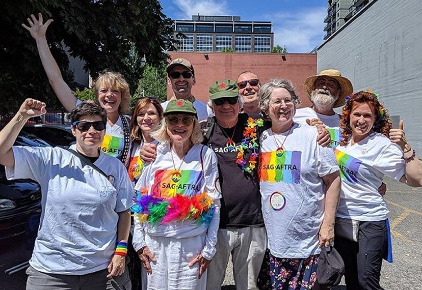 SAG-AFTRA and Equity at the Pride parade