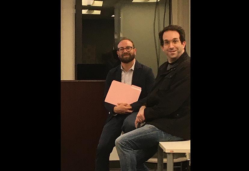 Daniel Arnow and member David August discuss housing