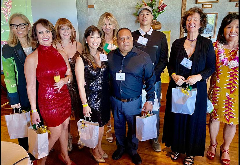 Hawaii Local SAG Awards Viewing Party Planning Committee with their party favors. Photo by Deborah Glazier