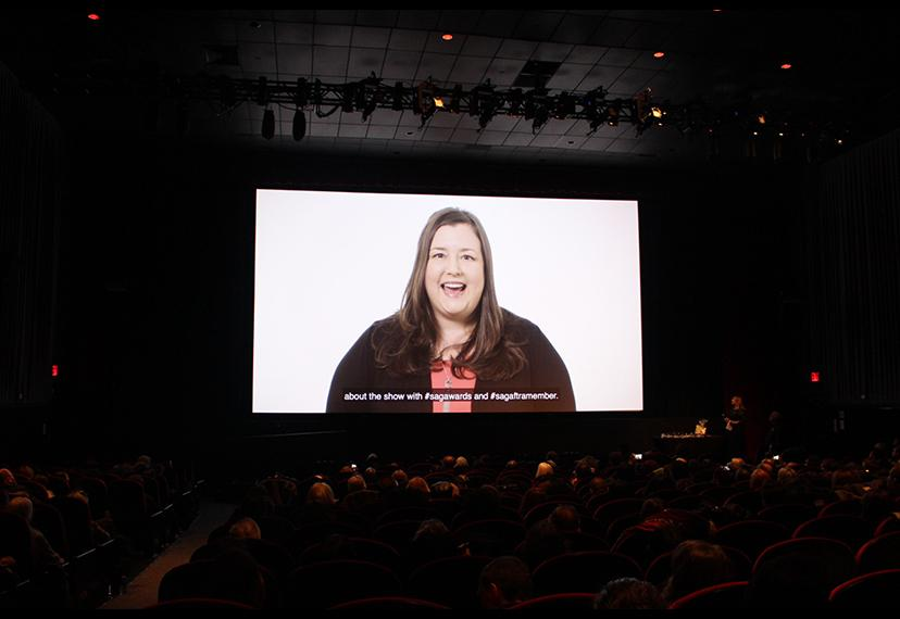 EVP and New York President Rebecca Damon sent a video message welcoming members to the New York Local viewing party.
