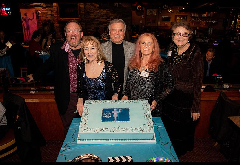 The Nevada Local Board gets ready to cut the cake! Shane O'Neal/SAG-AFTRA