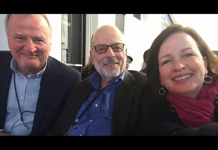From left, board members Tom Kemp, Paul Horn and Karen Scalia take a selfie. (Photo by Karen Scalia)
