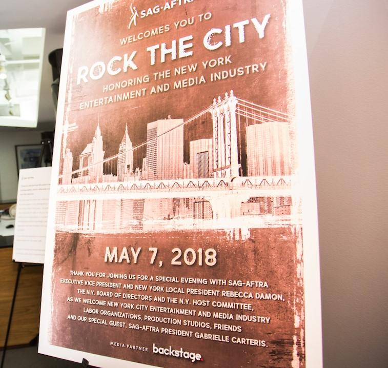 SAG-AFTRA honors the New York entertainment and media industry at Rock the City.