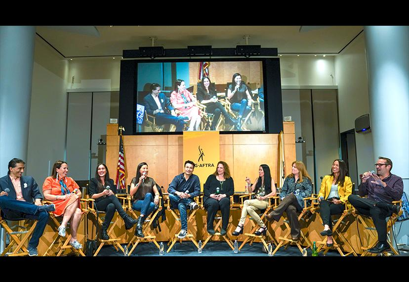 The CSA Native American and Indigenous Actors Town Hall in the James Cagney Boardroom on Oct. 23.