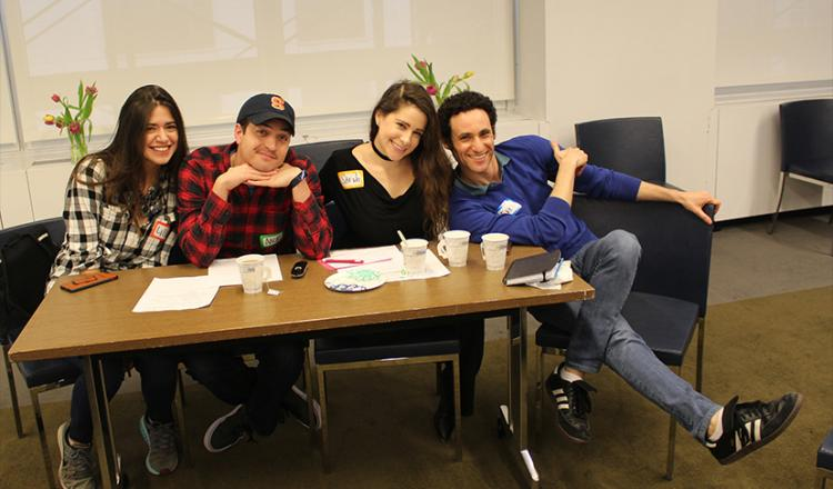 From left, NextGen Performers Subcommittee members Lillian Isabella, Nick Fondulis, Sarah Seeds and Evan Bass